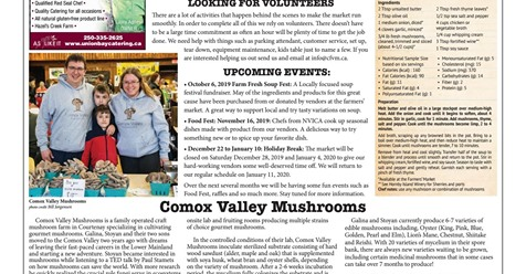 Comox Valley Record presents Comox Valley Mushrooms